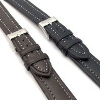 Lightly Padded XL Leather Watch Strap  16mm 18mm 20mm C010